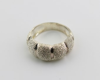 MILOR Sterling Silver 10K Yellow Gold Mesh Band Ring Estate