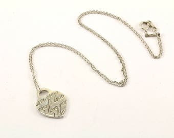 Tiffany and co necklace etsy authentic tiffany co notes i love you pendant necklace nc 1372 aloadofball Images