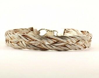Vintage Thin Ribbed Textured Design Round Bangle Bracelet 925 Sterling BR 3411