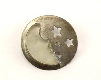 Vintage Silver Large Fish Symbol Design PinBrooch 925 Sterling BB 1579