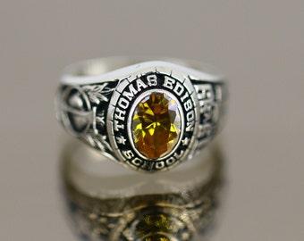 6a305e5882f Vintage 1999 Thomas Edison School Design Class Ring 925 Sterling Size 7 RG  365
