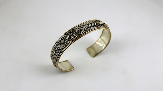 Vintage Beautiful Twisted Braided Design Cuff Bracelet 925 Sterling BR 3479