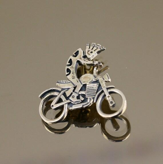 Vintage Southwestern Kokopelli  Dropdangle Earrings 925 Sterling Er 1030 401742007707