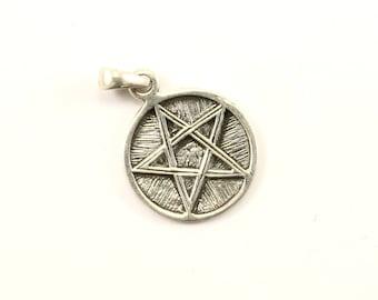 Vintage Pentagram Star Design Pendant 925 Sterling  PD 391