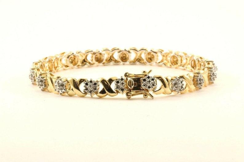 Vintage Xoxo Flower Floral Design Bracelet Sterling 925 Br 2799 123759773659