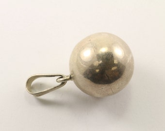 Vintage Mexico Sphere Pendant 925 Sterling Silver PD 2370
