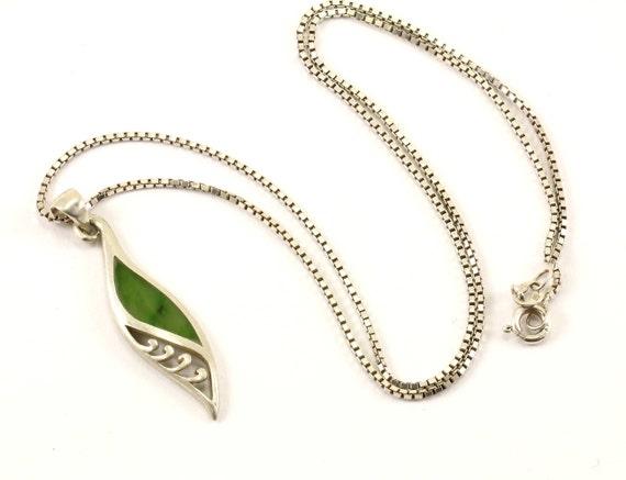 Vintage Leaf Leaves Crystal Design Necklace 925 Sterling Nc 1436 123765813380