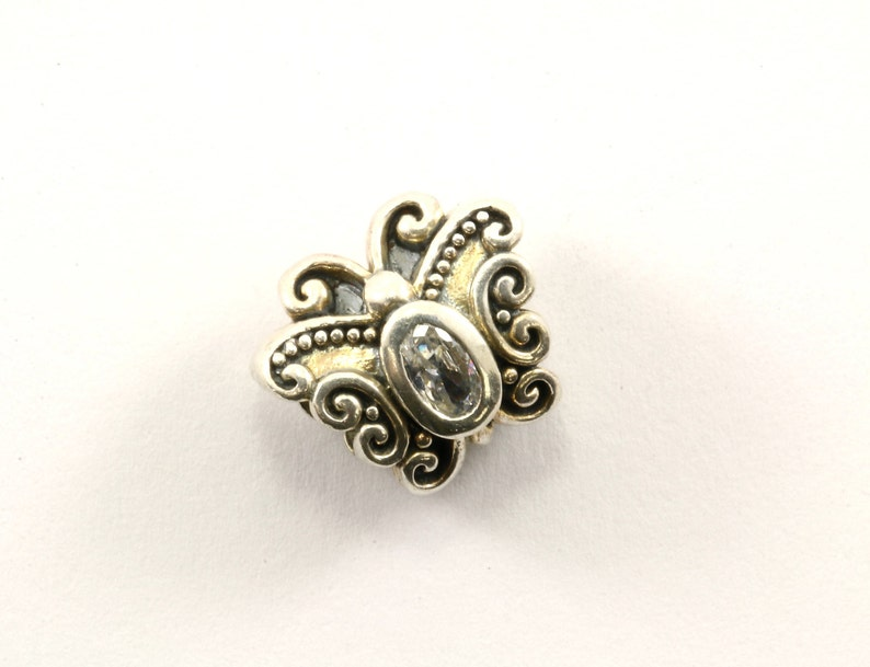 Vintage Beautiful Butterfly Bead Charm Sterling 925 CH 66