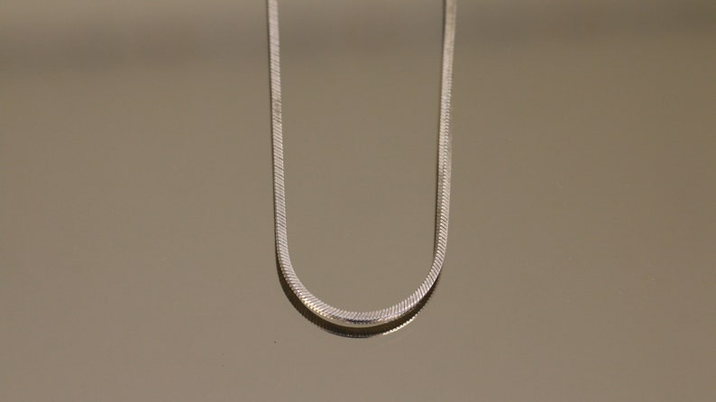 Vintage Italy Plain Simple Unisex Men Women Thick Square Snake Chain Design Necklace 925 Sterling NC 1818