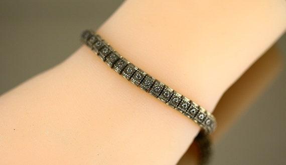 Vintage Real Diamonds Small Beautiful Arabic Flower Design Pendant 925 Sterling PD 2236E