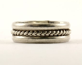 Vintage Braided Band Ring 925 Sterling Silver RG 1337-E