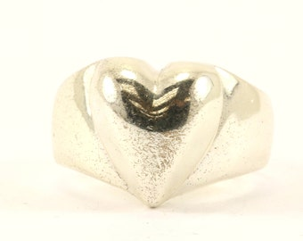 Vintage Heart Ring 925 Sterling Silver RG 2332