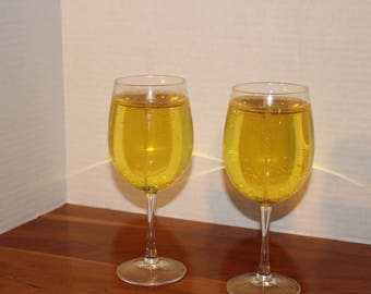 Wine glass gel candles set of 2