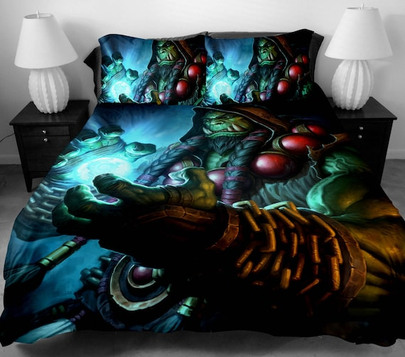 3 Pcs Twin Full Queen Size Wow World Of Warcraft Duvet Cover Etsy