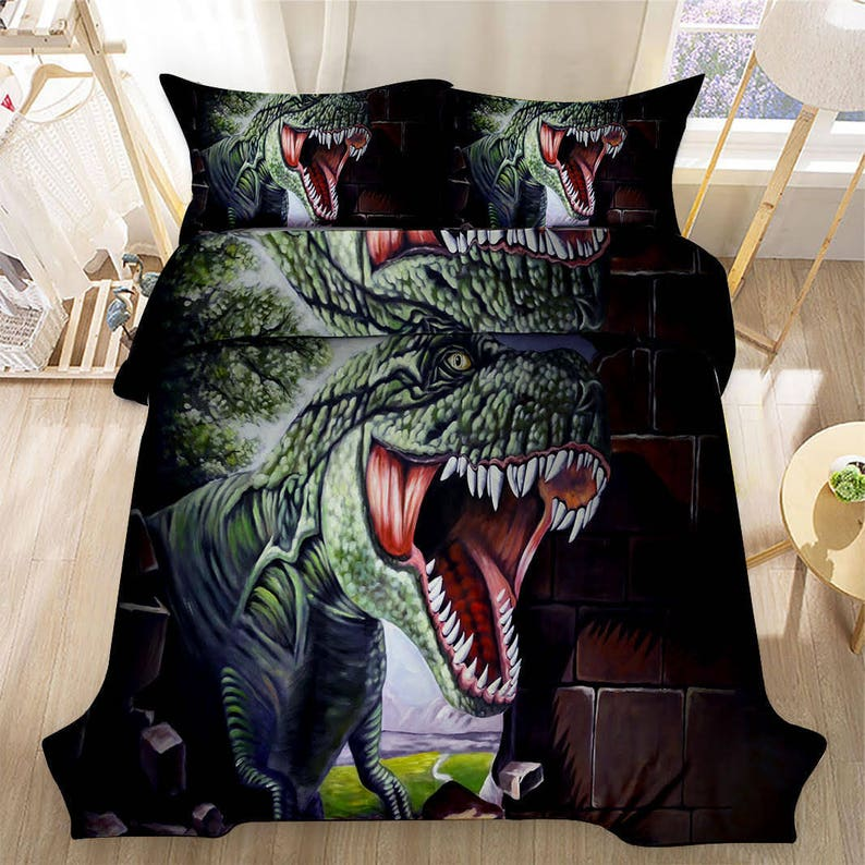 ee0962c47 3D Dinosaur 3 PCS Bedding set Twin Full Queen Size Duvet Cover