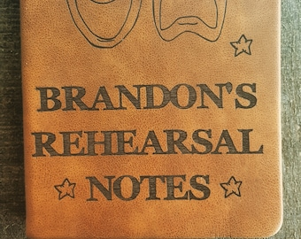 Customized Rehearsal Notes Journal (small brown), Stage Manager Journal, Actor Journal, Director Journal, Theatre Journal