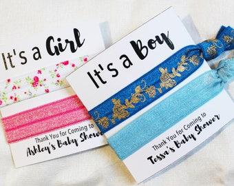 Baby Shower Hair Ties Hair Ties, Elastic Hair Ties, Elastic Wrist Bands/Bracelets, Party Favors, Baby Shower Favors, Hair Tie Favors