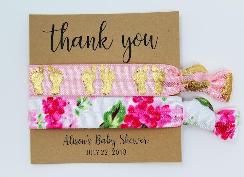Baby Shower Favors Elastic Hair Ties Elastic Wrist BandsBracelets Hair Tie Favors Grandma to Be Hair Ties Party Favors