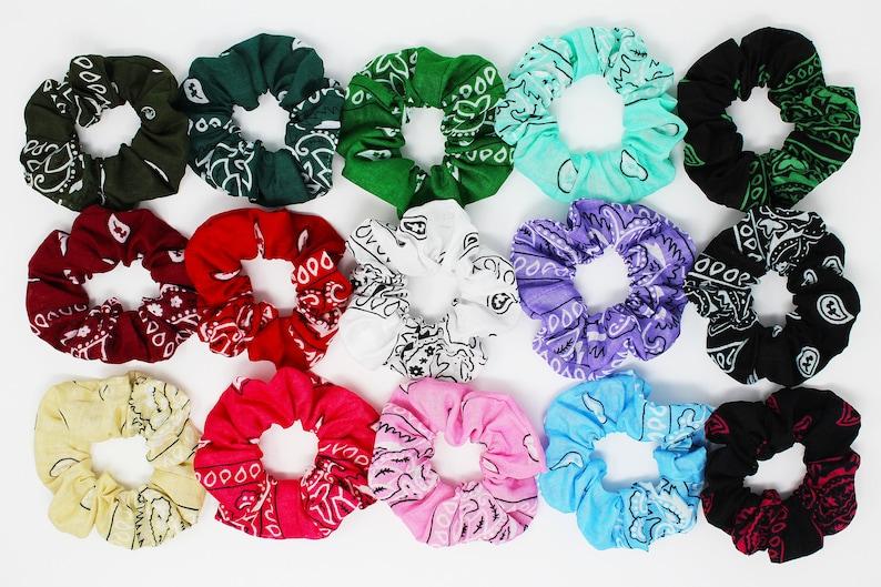 edae732e8 Bandana Print Hair Scrunchie Hair Tie Gentle Hair Elastic | Etsy