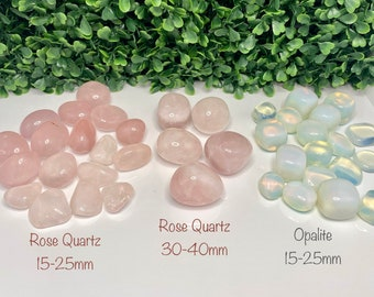 1x Crystal/Gemstone Tumbled Stones, Rose Quartz,Citrine, Amethyst, Clear Quartz, Opalite, Tourmaline, Smokey Quartz,  African Turquoise