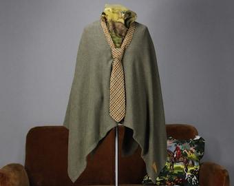 JOZELA British green cashmere poncho