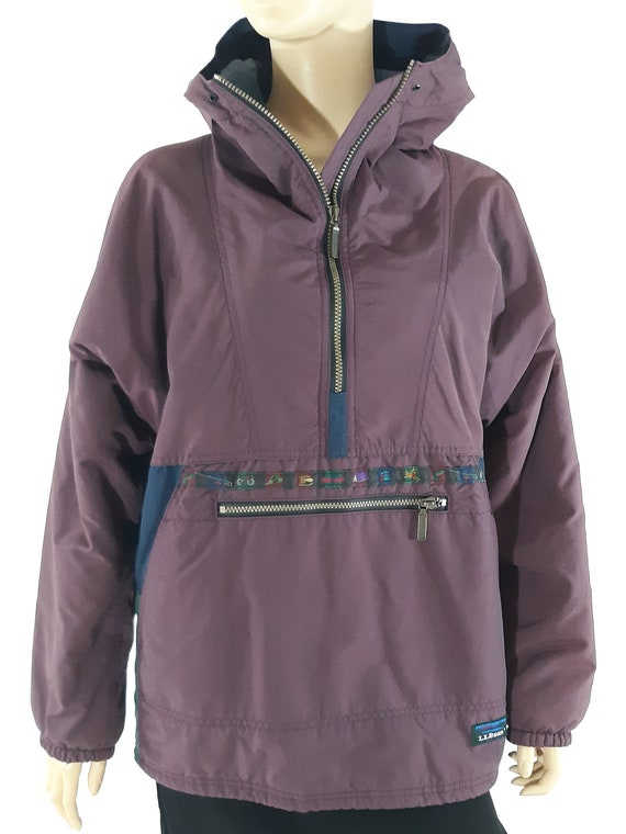 90 s Jacket Women s Purple Blue Geo Colorblock Hooded  23a41e612