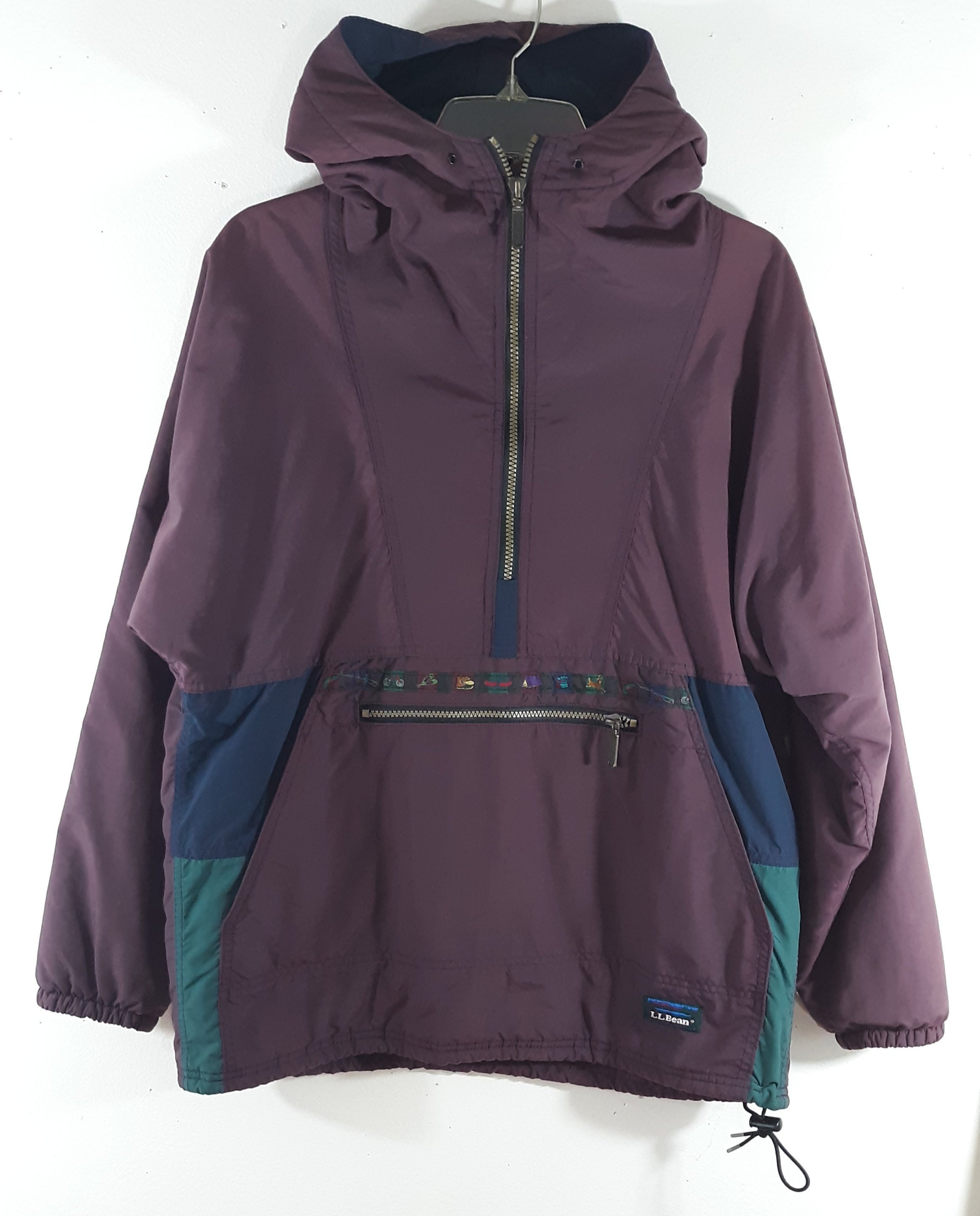 ab3741fbd5 90 s Jacket Women s Purple Blue Geo Colorblock Hooded