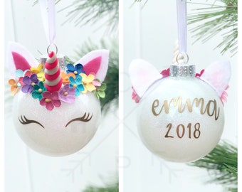 popular items for unicorn ornament - Unicorn Christmas Decorations