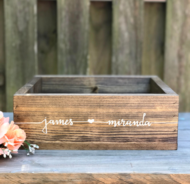 Wedding Card Box Custom Rustic Wedding Decor Wooden Card ... - photo#8