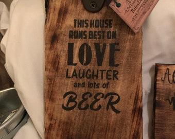 Beer bottle openers