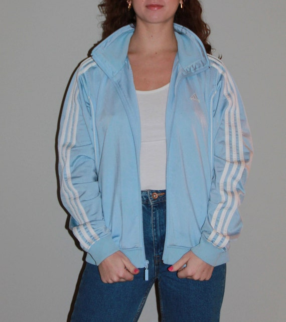 Vintage Baby Blue Adidas Track Jacket  ac06ce91cf
