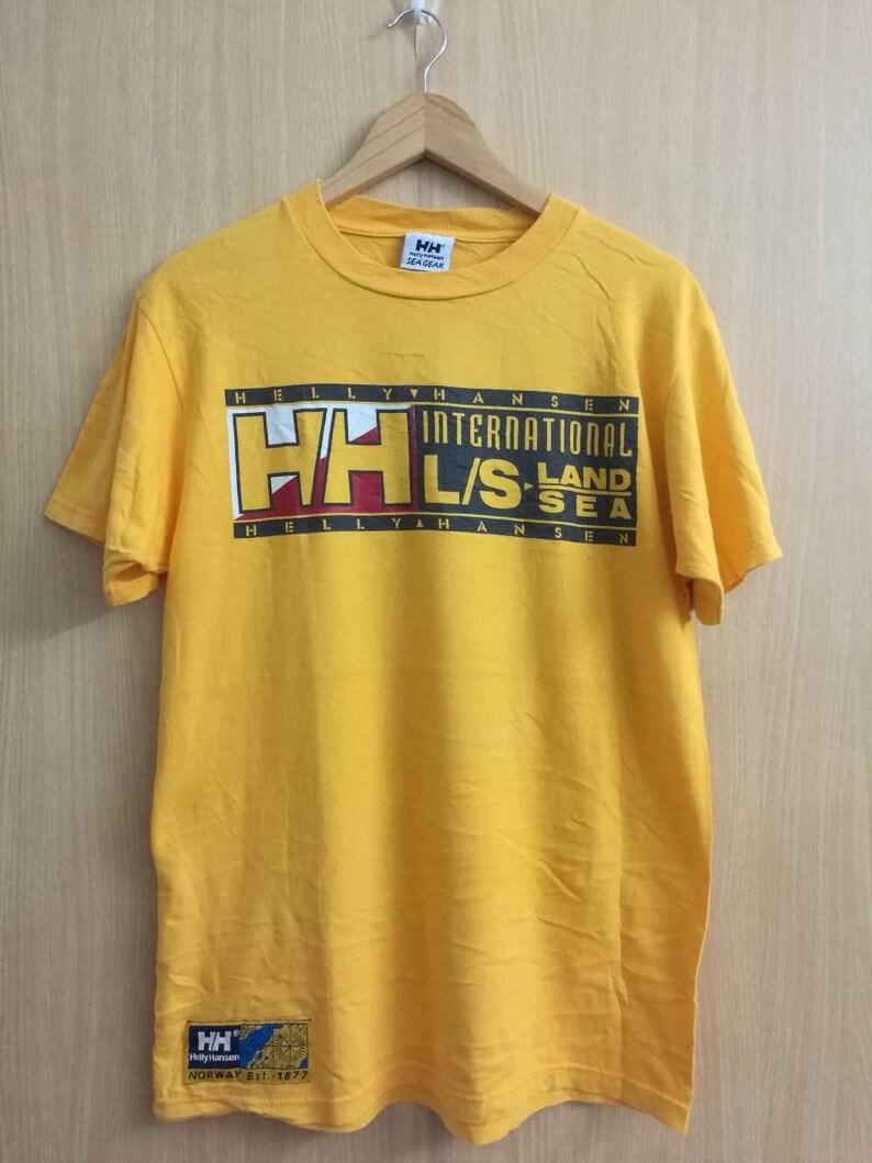 8b4ffcfb5c89 Medium Size HELLY HANSEN Yellow T-shirt Sea Gear International