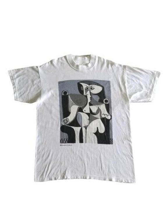 White PICASSO T-shirt Succession Picasso 02 Art Po