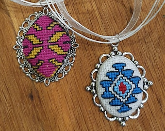 Bulgaria ethnic jewelry Balkan rich land of roses Bulgarian lockets necklace Mothers day gift Bulgarian gifts folk art embroidery