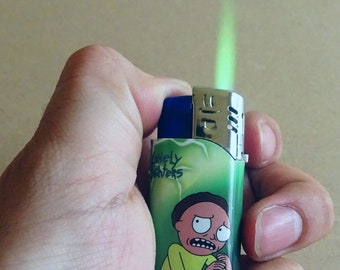 Green Flame: Rick and Morty Lighter