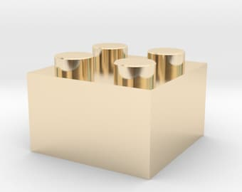 Gold Plated LEGO Block