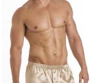 Luxury Men's Silky Satin Boxer Shorts in a Super Price 3-Pack with Color Combos