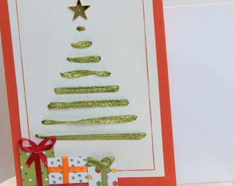 3D postcard, hand made, for the holiday season