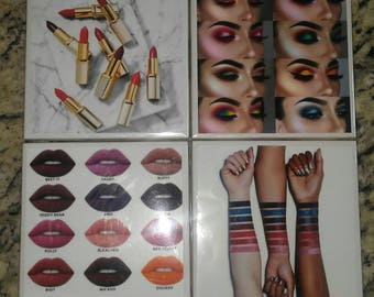 Makeup lovers coasters. Set of 4