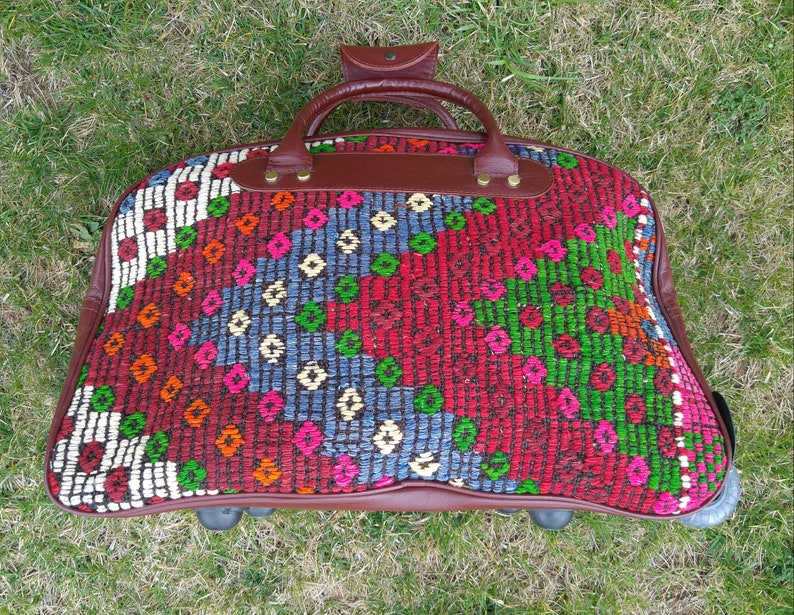 Rolling luggage bagkilim bagTravel Kilim BagKilim Duffle  251b7f8f66b17