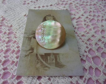 Big old iridescent shell button