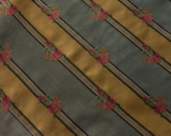 beautiful fabric vintage silky, flowers, antique color