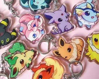 Eeveelution Double Sided 1.5in Acrylic Charms