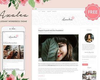 Azalea Free Feminine WordPress Theme