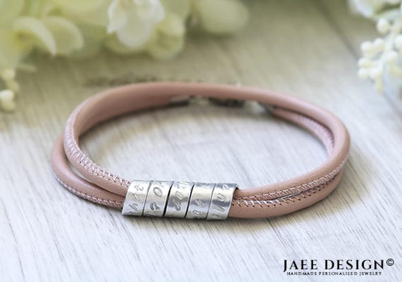 Personalized gift for her womens leather bracelet Birthday bracelet Gift for bday Womens birthday gift Birthday bracelet for her