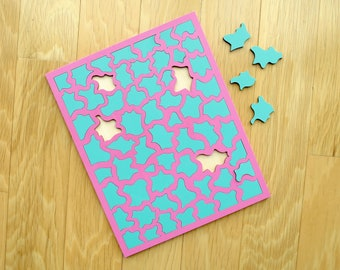 Pink & Turquoise Laser Cut Puzzle