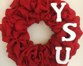 YSU Wreath