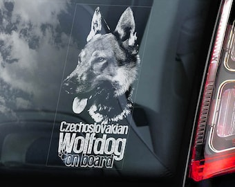 V12 Czechoslovakian Wolfdog Car Window Sticker Vlcak Wolf Dog Sign Decal