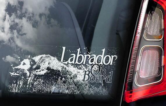 Labrador on Board - Car Window Sticker - Hunting Retriever Gun Dog Sign Lab Decal - V04