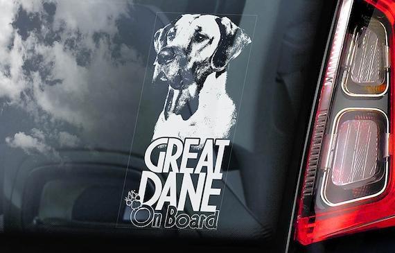 Great Dane Sticker Vinyl Auto Window German Mastiff v2